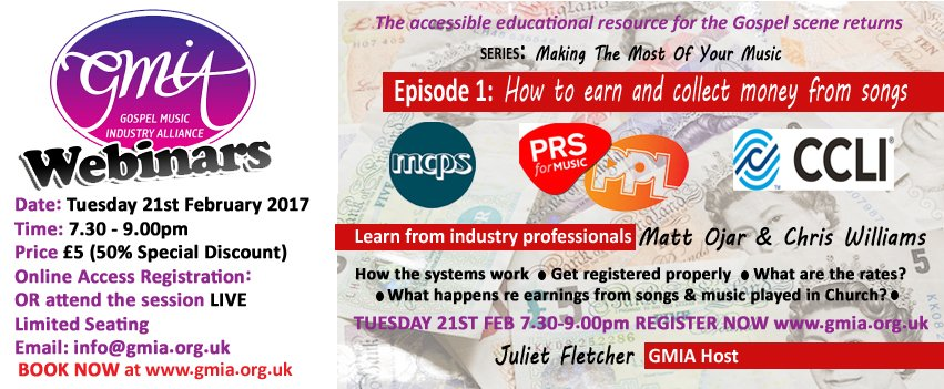 GMIA WEBINAR: How To Make Money From Your Music